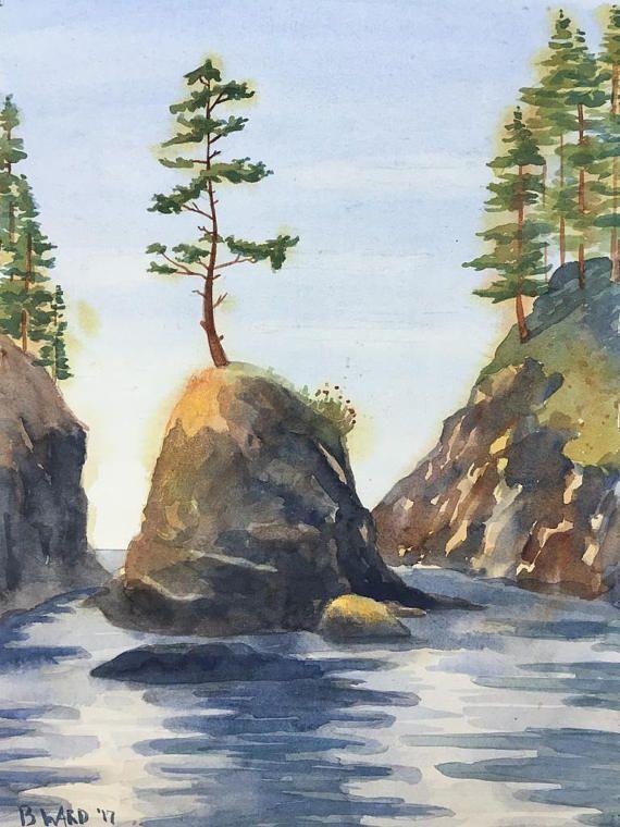 Becca Ward - Deadman's Cove Original Watercolor Painting