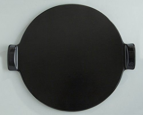Emile Henry Made in France Flame Top Pizza Stone, Black. Perfect for Pizzas or Breads. In the Oven, On Top of the BBQ. Safe up to 750 degrees F. 100% Natural Clay, Glazed Surface. Easy to Clean.