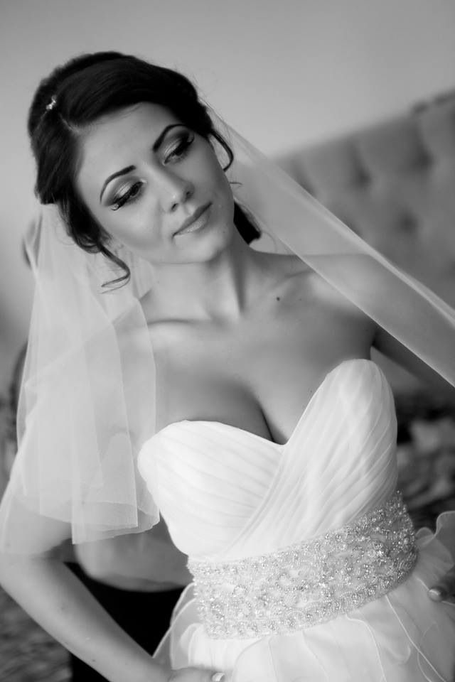 Black white bride