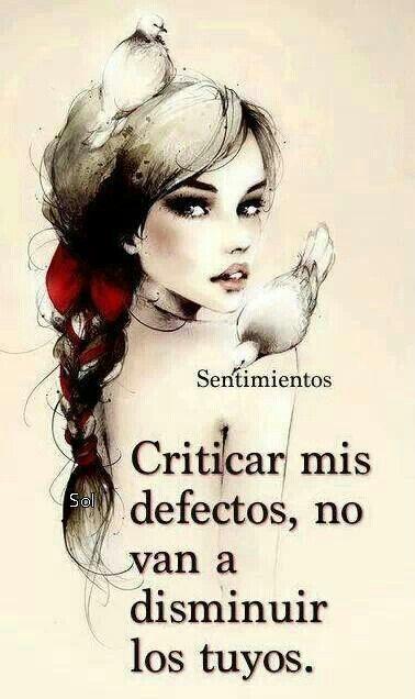 Ya se que no soy perfecta.