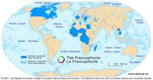 Carte de la francophonie