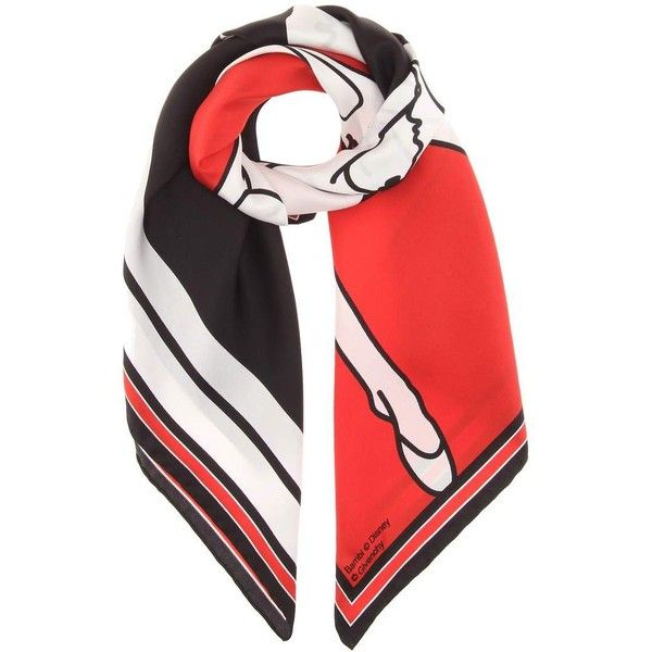 Givenchy Bambi© Silk Scarf found on Polyvore featuring accessories, scarves, red, pure silk scarves, red shawl, givenchy, givenchy scarves and silk shawl