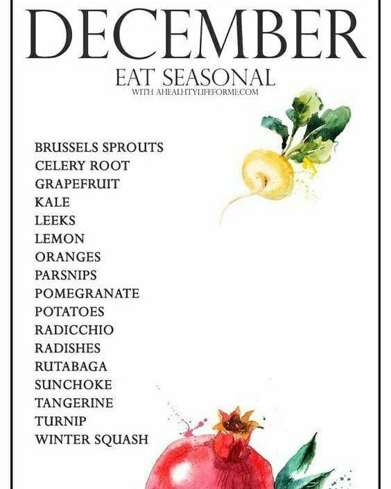 December eating seasonal produce.