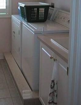 How to build a waterproof second floor laundry room: Ever wondered how to stop water damage on your second floor when you have your laundry upstairs? It's easy to do - just like building a shower, but just the floor.
