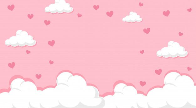 Download Valentine Theme With Hearts In Pink Sky For Free Desktop Wallpaper Art Cute Pastel Wallpaper Aesthetic Desktop Wallpaper