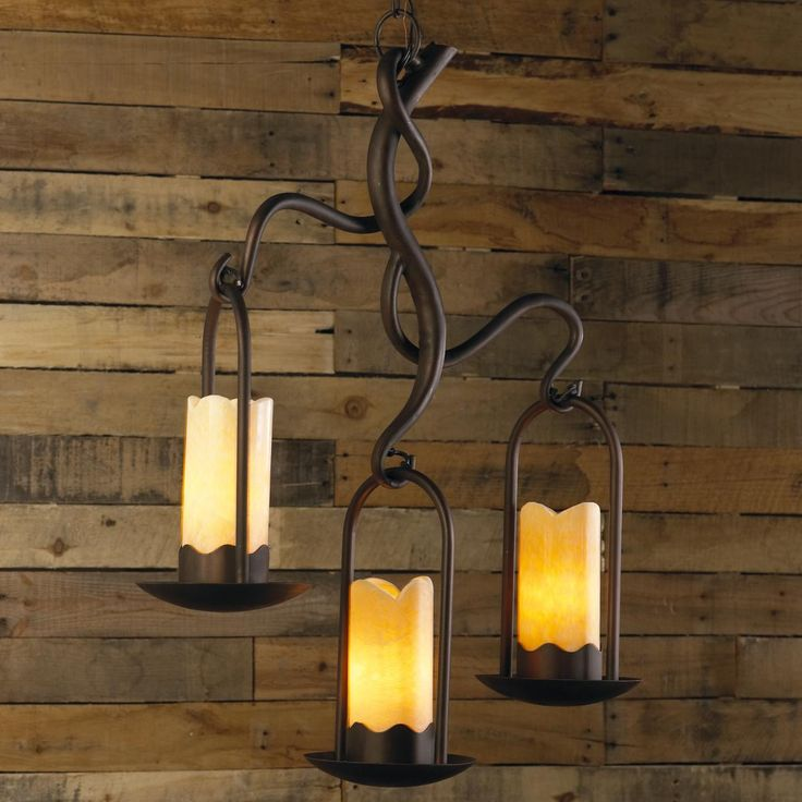 iron branches stone candle island chandelier 3 lt. Black Bedroom Furniture Sets. Home Design Ideas