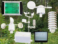 Estaciones meteorológicas con todos sus accesorios