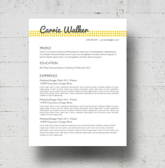 Best Resume Cv Images On   Resume Ideas Career