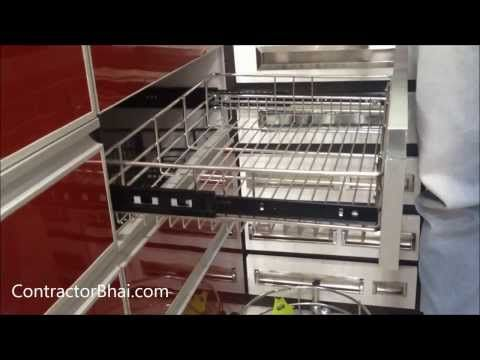 Best Kitchen Trolley Designs By Contractorbhai Com Youtube 400 x 300