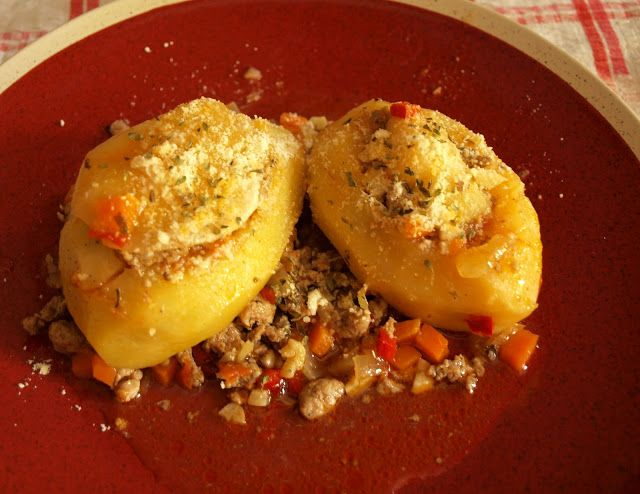 Patatas Rellenas de Carne Picada   – Sin gluten – Gluten free