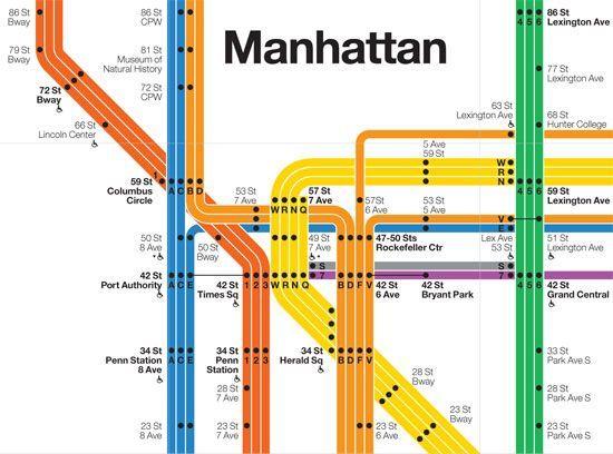 Nyc Subway Map Author Emiliano Ponzi.Image Result For Map Subway Graphic Design Precedents Signage