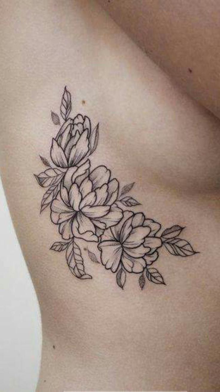 Floral side tattoo #beauty #ribcage #flowers #tattoopin #bodyart