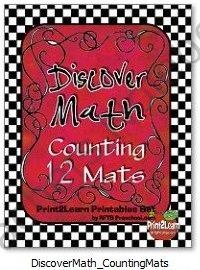 Discover Math Counting 12 Mats product from RFTS-Preschool on TeachersNotebook.com