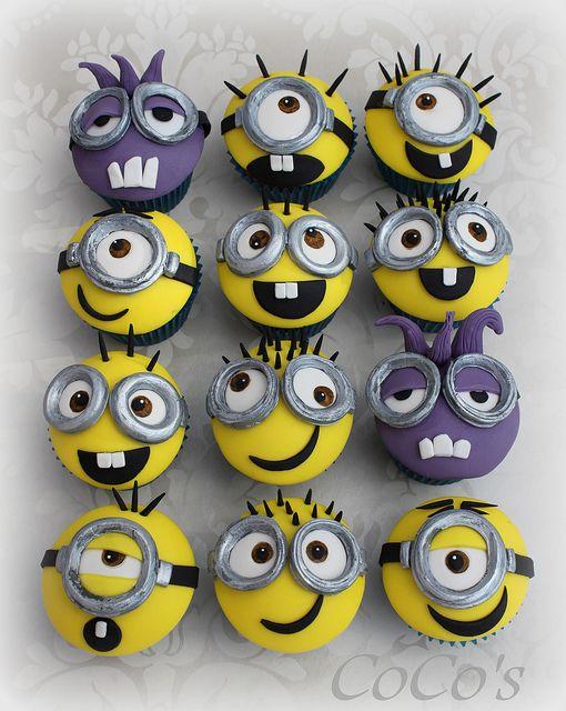 minion cupcakes   Flickr - Photo Sharing!