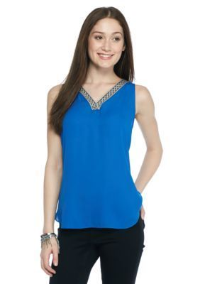 A. Byer  Sleeveless Lace Up Back Top