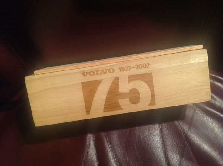 Volvo advertising wooden MEMORY GAME 75th ANNIVERSARY Sweden 1927-2002 Tiles Car