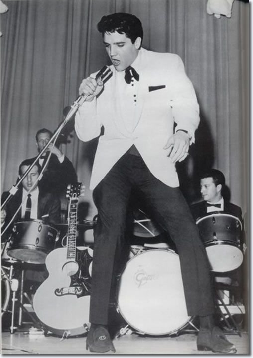 """Elvis performs a benefit concert the evening of Feb. 25, 1961, """"Elvis Presley Day""""."""