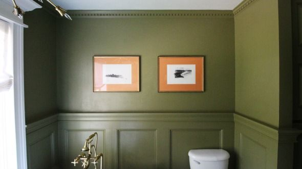 1000 images about olive 13 paint farrow and ball on for Olive green bathroom ideas