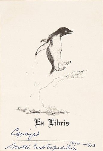 SCOTT, Captain Robert Falcon. Scott's Last Expedition […] London, [Spottiswoode and Co. Ltd. For] Smith, Elder & Co., 1913. #bookplate #penguin #expedition #travel #exploration