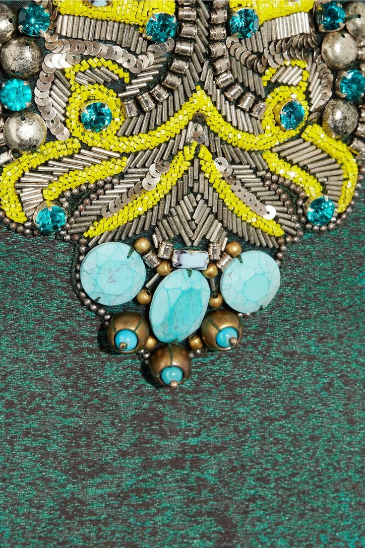Matthew Williamson | Embellished cotton-blend peplum dress | NET-A-PORTER.COM