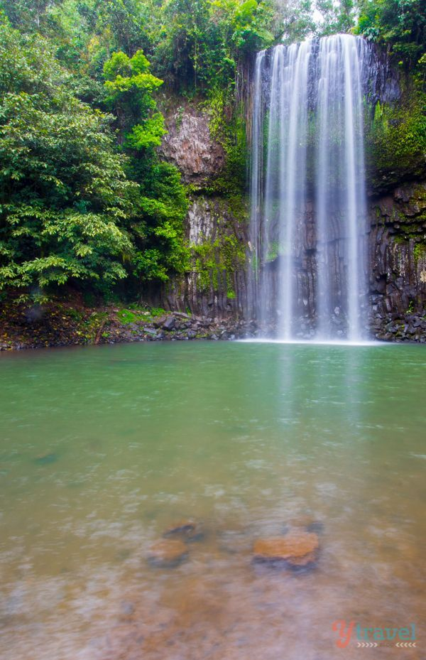Visit Millaa Millaa Falls on a road trip through the Atherton Tablelands in Queensland, Australia