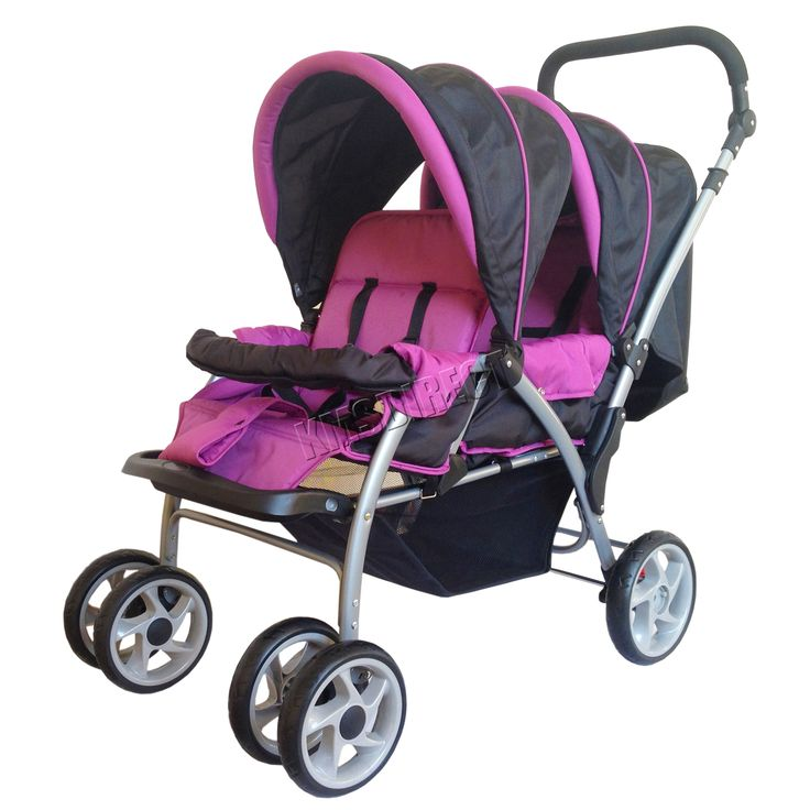 FoxHunter Baby Toddler Tandem Double Stroller Twin Single