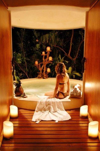 best 25 spa jacuzzi ideas on pinterest spa jacuzzi exterieur spa bois and spa en bois. Black Bedroom Furniture Sets. Home Design Ideas