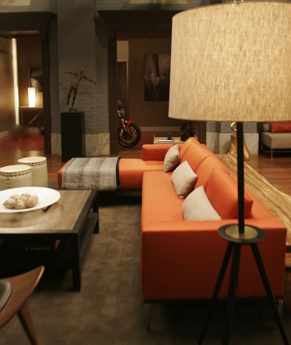 Side view of the sofa in Chuck Bass's Empire Hotel Suite via Christina Tonkin Interiors BlogChristina Tonkin Interiors Blog