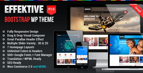 The EFFEKTIVE is the most flexible and attractive theme we've ever created. It's a highly versatile Premium WordPress theme that everybody wants. The design is clean and you have seven layout options to choose from.
