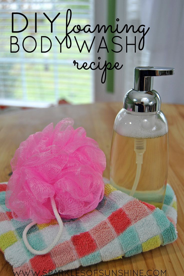 recipe how to make homemade foaming body wash