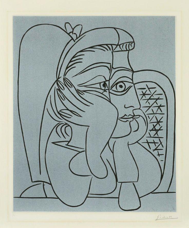 Picasso - Portrait de Jacqueline (1959)