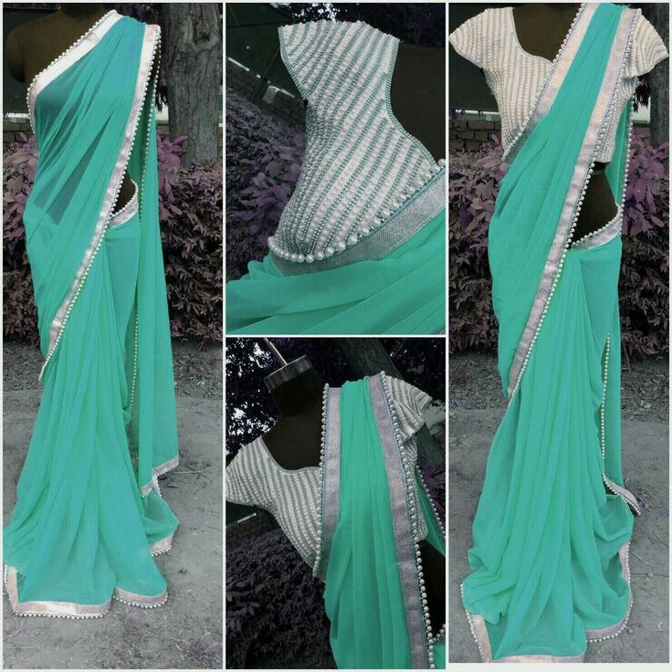 SAREE PARTY WEAR INDIAN ETHNIC DESIGNER PEARL SARI STITCHED BLOUSE UPTO 38SIZE #designercollection #asyoulikeit