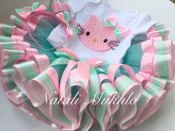 Hello Kitty Birthday Tutu Set, Hello Kitty Tutu, Hello Kitty Birthday Outfit, hello kitty 1st birthday, 1st birthday girl outfit, baby tutu
