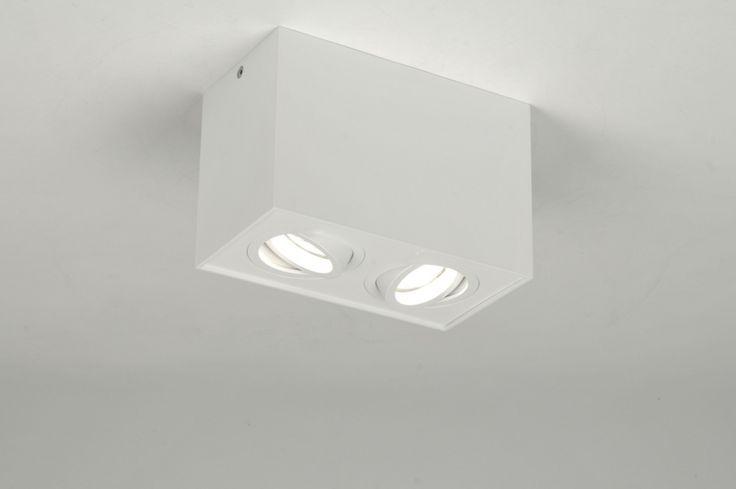 Plafondlamp 71342: Modern, Design, Metaal, Wit