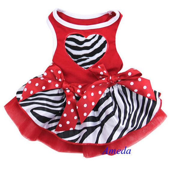 Red Zebra Tutu Heart Party Dress by HoidiBoutique