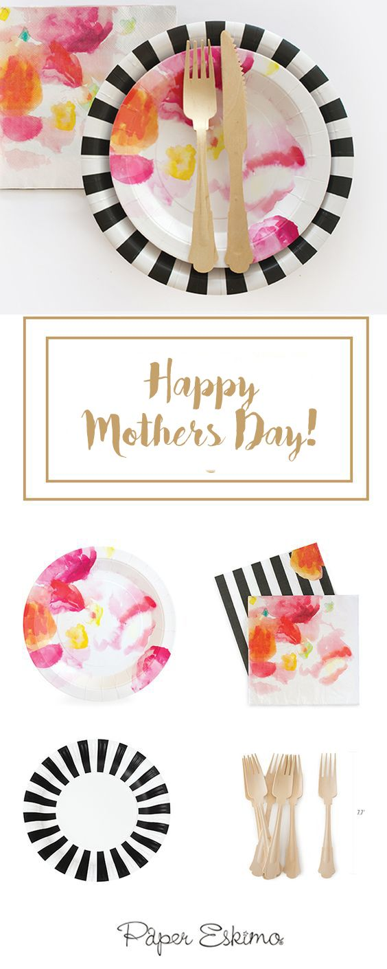 Celebrate Mothers Day with chic styles, Paper Eskimo's high-quality designer partyware gives you more time to do the things you love. Shop this look at Papereskimo.com