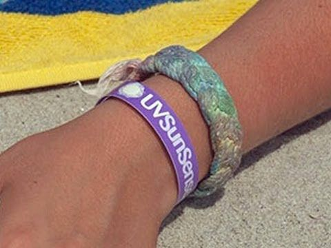 These bracelets are fantastic- they tell you when to reapply sunscreen, and when you need to get out of the sun to avoid skin damage.