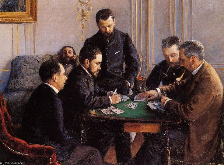 'Bézigue' de Gustave Caillebotte (1848-1894, France)