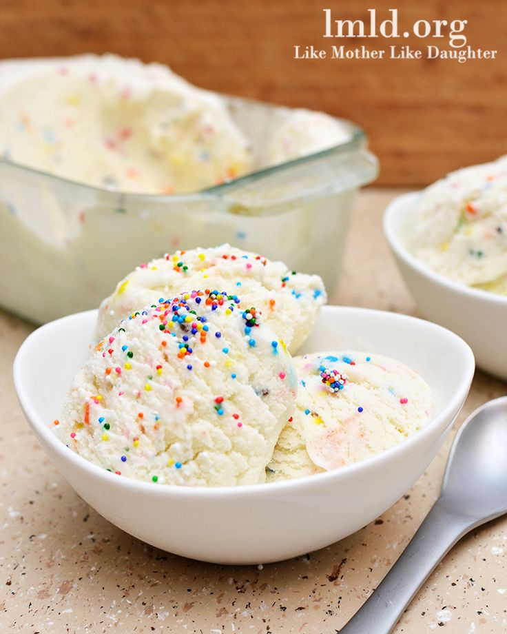 Cake Batter Ice Cream