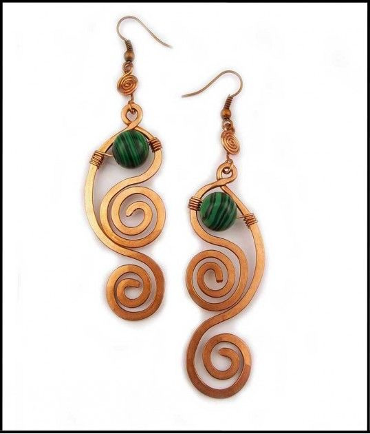 115 best jewelry wire wrapped jewelry inspiration and for Hammered copper jewelry tutorial