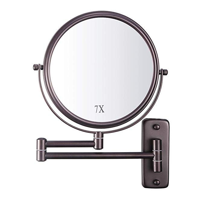 Decluttr Wall Mounted Makeup Mirror With 7x Magnification 8 Inch
