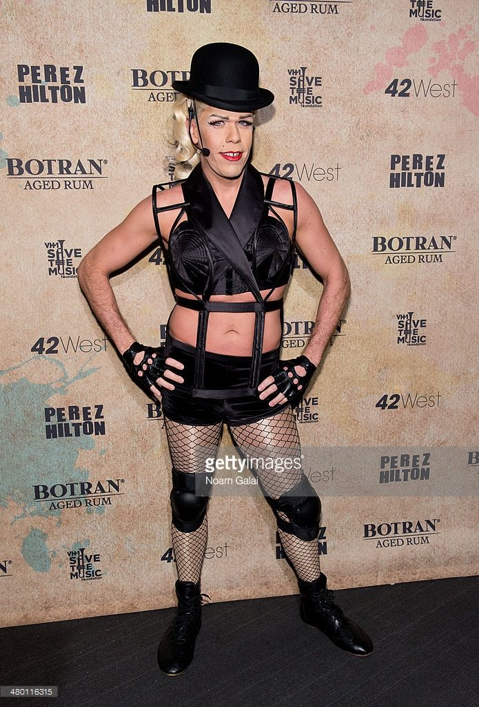 Perez Hilton attends Perez Hilton's 36th Birthday 'Madonnathon' at 42West on March 22, 2014 in New York City.