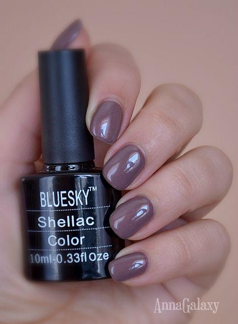 Anna Galaxy: Bluesky. Гель-лак с мерцающим эффектом Shellac Изумительный, А14