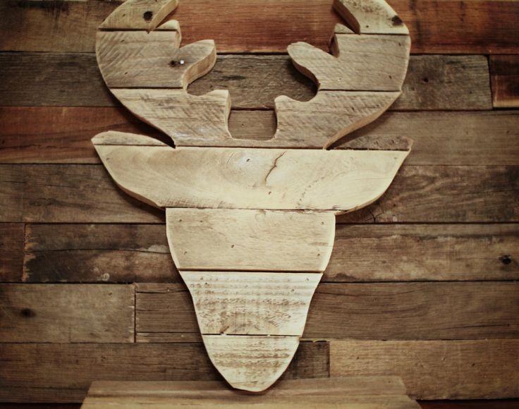Original Reclaimed Pallet Deer Head by sonofwhale on Etsy, $48.00