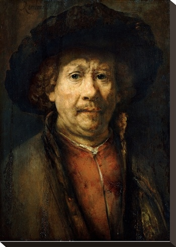 Self-Portrait. Rembrandt. Autoretrato. 1655. Oil on panel. 49.2 X 41 cm. Kunsthisthorisches Museum. Vienna.