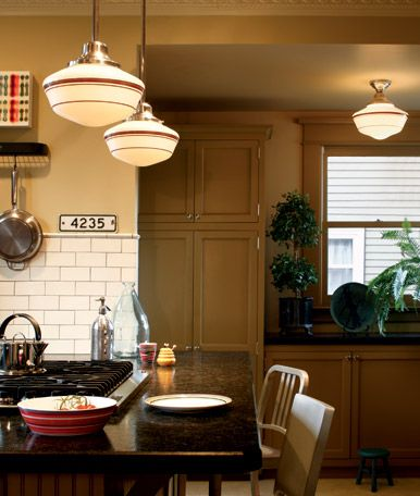 73 best schoolhouse lighting images on pinterest rose city i really like the look of these schoolhouse style fixtures here the jefferson ceiling mount is paired with the pendant style rose city aloadofball Images