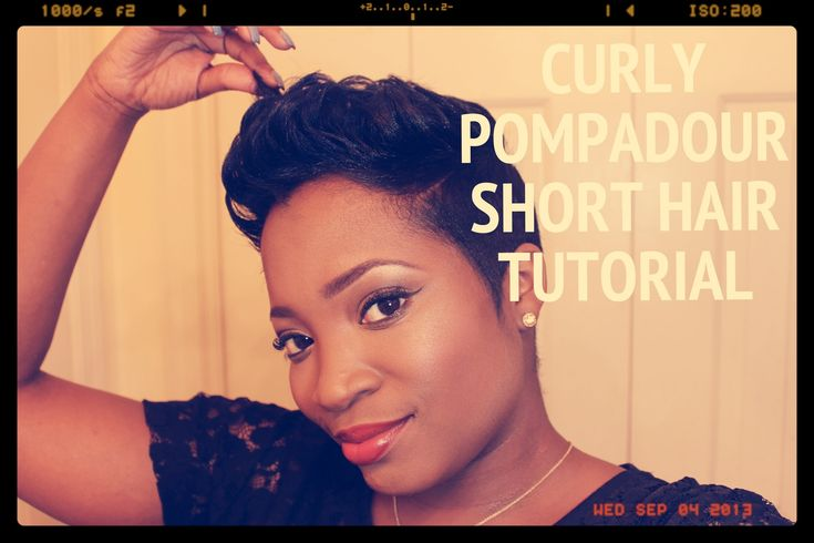 Curly Pompadour On Short Hair Tutorial [Video]