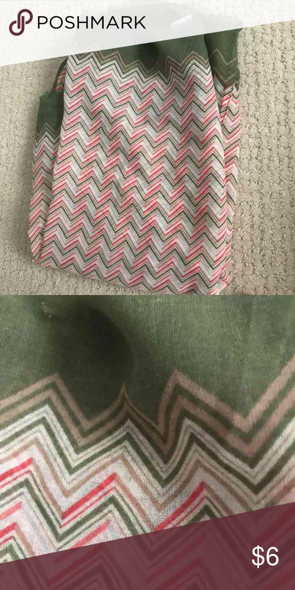 Chevron infinite scarf Chiffon type fabric, NWOT Accessories Scarves & Wraps