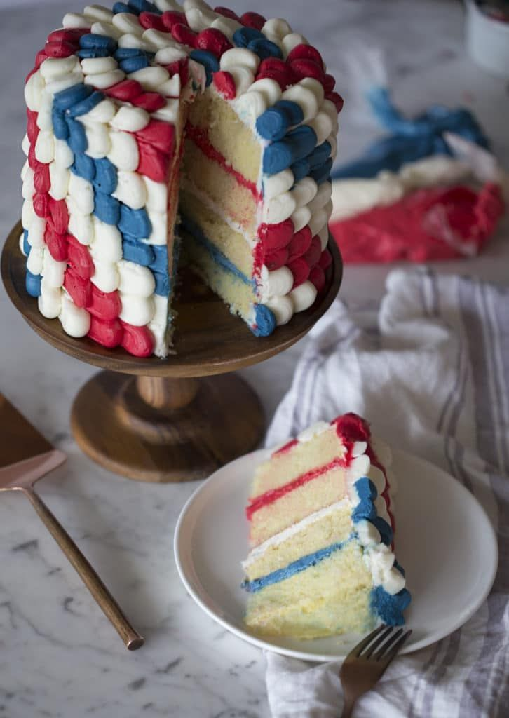 Red White And Blue Cake Red White And Blue Desserts Easy