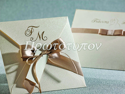 Chic Wedding Invitations  in unique papers by Prototypon
